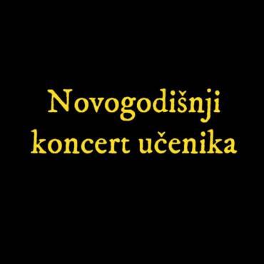 """Novogodišnji koncert učenika – JU OMBŠ """"Novo Sarajevo"""", područno odjeljenje Ilijaš"""